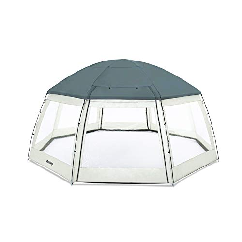 Bestway BW58612 Round Pool Dome, Shelter for SwimmingPool and Hot tub Spas 6.00m x 2.95m, grey