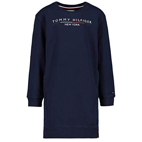 Tommy Hilfiger Girl's Crew Sweatshirt Dress, Blue (Black Iris 002), 128 (Size: 8)