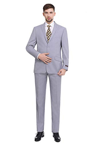 P&L Men's Premium Slim Fit 2-Piece Business Wedding Prom Suit