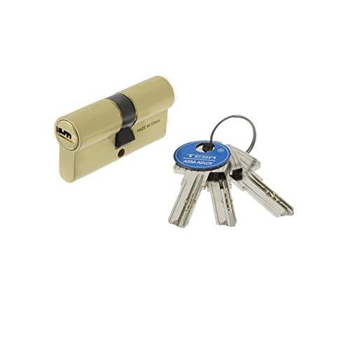 Tesa Assa Abloy 3010109 - Cilindro Seguridad T60 /30x40 Latonado.
