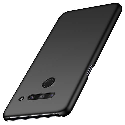 Anccer Kompatibel mit LG V50 ThinQ Hülle, [Serie Matte] Elastische Schockabsorption & Ultra Thin Design (Glattes Schwarzes)