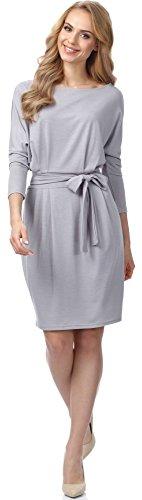 Merry Style Damen Kleid MSSE0006 (Grau, L)