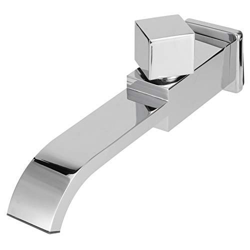 Haofy Grifo para Lavabo, Grifo de Agua de una manija, Grifo de Pared G1 / 2, Accesorio de baño para Grifo de Agua para Lavabo de una Sola Cascada fría(Cromo)