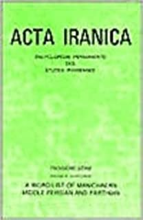 A Word-List of Manichaean Middle Persian and Parthian (ACTA Iranica) by M Boyce (1975-01-01)