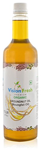 Vision Fresh Organic Groundnut Oil (Mungfali Oil) - 1 Ltr
