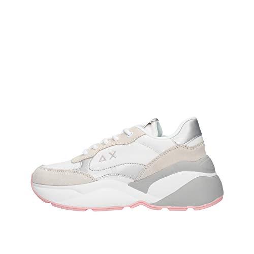 SUN 68 Dani Nylon Sneaker Bianca da Uomo Z30220-01
