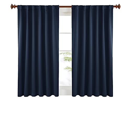 Deconovo Solid Back Tab and Rod Pocket Curtains, Blackout Curtains Thermal Insulated Drapes and...