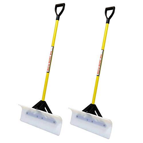2PK Snow Plow 24' Wide Shovel Push Plow Commercial Residential D-Grip 50524