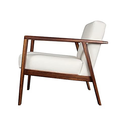 MO GDL Sillon Ocasional Salvatore Parota, Tapizado en elegante tela importada de fácil limpieza, Madera, Diseño simple, Diseño...