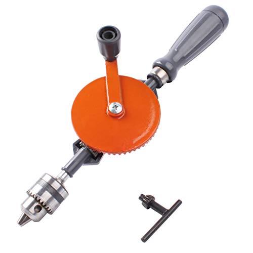 BIlinli 1/4 Zoll tragbare Handkurbelbohrmaschine Mini-Handbohrmaschine mit Doppelritzeln für Holz-Kunststoff-Doppelzahnrad