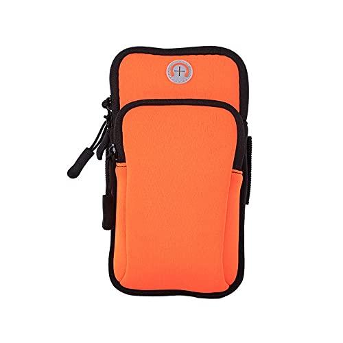 NJBYX Deportes Corriendo brazalete Bolsa Cubierta protectora Ejecutar Universal Impermeable Deportes Teléfono Móvil Caja Al Aire Libre Bolsa de Teléfono Móvil (Color : Orange)
