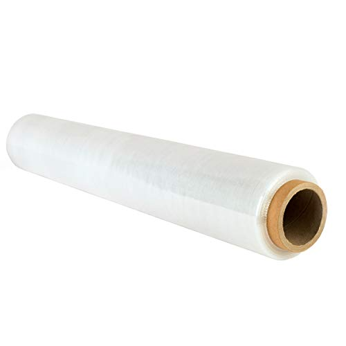 Film étirable V1 Trade - Transparent - 23 microns d'épaisseur - Rouleau de 150 mètres de long et 500 mm de large - Film pour palette résistant à la déchirure