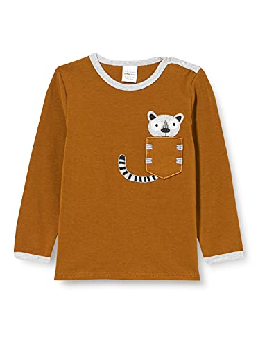 Fred's World by Green Cotton Baby-Boys Hello Lemur T-Shirt, Pesto, 74
