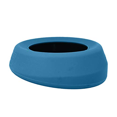 Kurgo No Spill Dog Travel Bowl, Portable No,Mess Water Bowl for Dogs, Splash Less Pet Bowl for Car Travel, Mess Free, Dog Travel Accessories, Splash Free Wander Water Bowl, Blue and Red, 24 oz