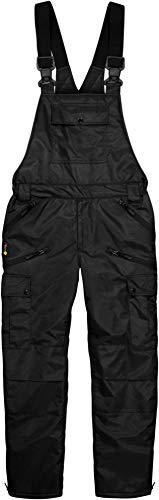 normani Winter Herren Thermo Latzhose, gefüttert, Wind- und wasserdicht, 6 Reißverschlusstaschen Farbe Schwarz Größe M