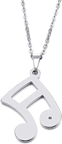 ZHIFUBA Co.,Ltd Necklace Fashion Stainless Steel Musical Notes Pendant Necklace Jewelry Size 45Cm