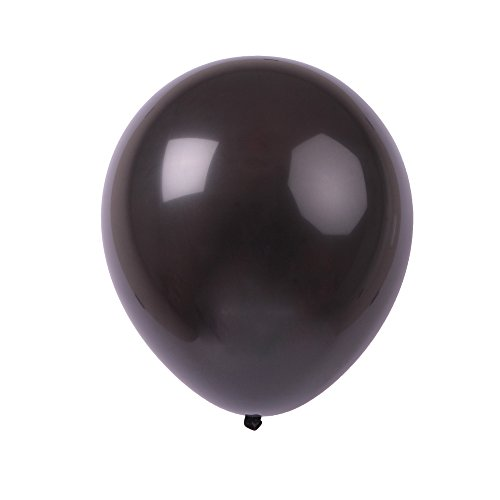 Topenca Party Supplies, 12 Inches Solid Latex Balloons, 50 Pack, Black