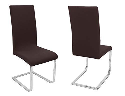BEAUTEX 2er Set Stuhlhussen, elastische Stretch Hussen Bi-Elastic, Motiv und Farbe wählbar