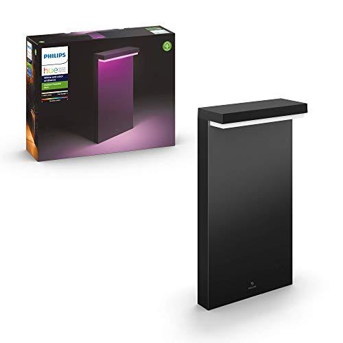 Philips Hue Nyro Columna o Poste Inteligente Exterior LED (IP44), 13.5 W, Luz Blanca y de Colores, Compatible con Alexa y Google Home