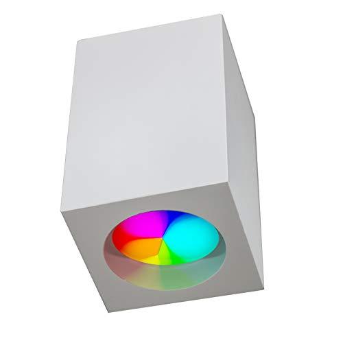 Foco LED plafón yeso luz techo 8 W GU10 RGB multicolor tienda...