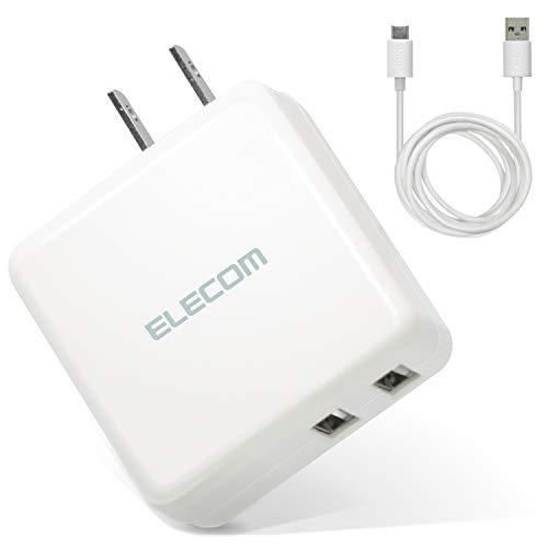 エレコム スマホ・タブレットAC充電器/3.6A/おまかせ充電ホワイト MPA-ACC08WH