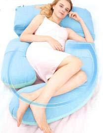 Almohada de cintura para mujeres embarazadas, almohada posicional, almohada de embarazo para dormir, almohada de tipo G embarazada, suministros de artefacto para levantamiento de estómago D