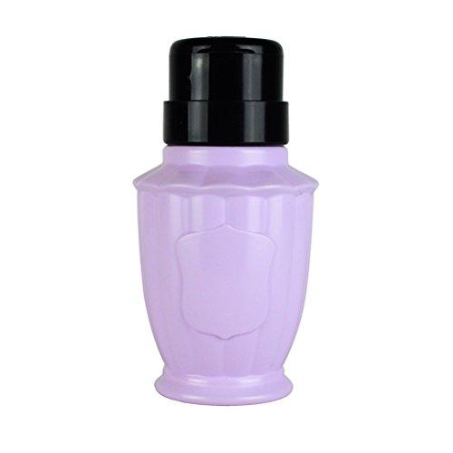 FRCOLOR Dissolvant de Vernis à Ongles Bouteille d'alcool Liquide Presse Bouteille Vide (Violet)