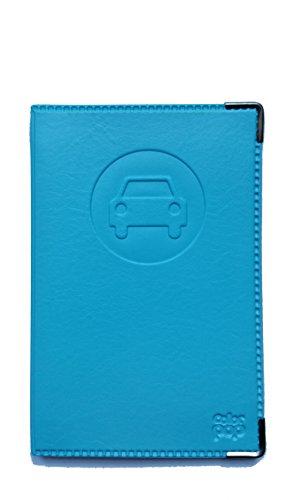 Colorpop Portadocumentos, diseño de coche, piel sintética , color azul