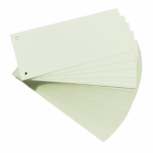 Herlitz 10843654 Trennstreifen, 100-er Packung, Weiß