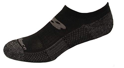 New Balance Cooling Cushion Performance No Show Socks, Black, (XL) Mens...