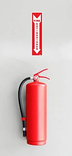 Premium Fire Extinguisher Sign Stickers [4 Pack] - 4