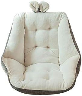 وسادة مقعد واحد شبه مغلقة من واي ل، وسائد مقعد مكتب، وسادة مريحة دافئة كرسي البحر وسادة الظهر وسادة تدليك مكتب (اللون: أبيض)