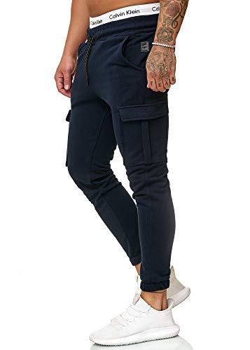 OneRedox Herren Jogging Hose Jogger Streetwear Sporthose Modell 1213 (XXL, Navy)