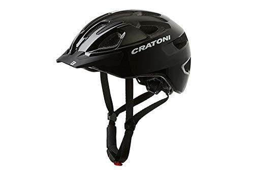 RennMaxe: Cratoni C-Swift – White Glossy – 53-59 cm – incl. cintura di sicurezza RennMaxe – Casco da bicicletta per skateboard MTB BMX adulto