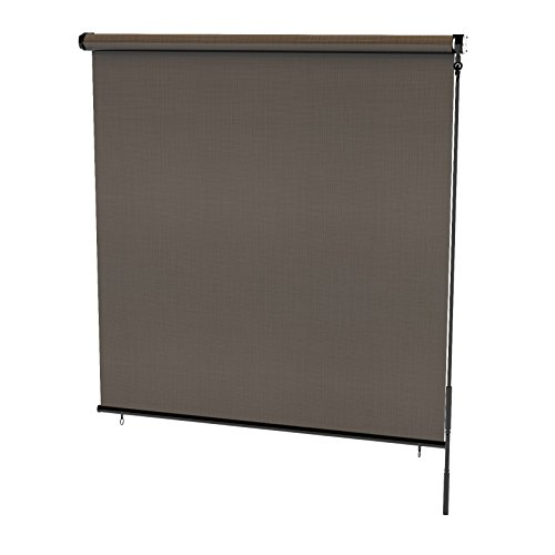 Radiance 0371696 Cordless Exterior Solar Shade Coconut Brown, 96x72
