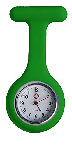 All u need Krankenschwester Schwesternuhr Grün Taschenuhr Kitteluhr Pulsuhr Pflege Nurse Watch