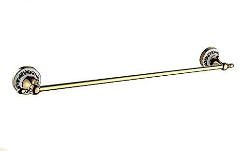 HYY-YY Badkamer Rekken bar bar Racks hanger Badkameraccessoires goud een koperen badkamer staafrek American badkamer accessoires koperen geboord installatie 60cm