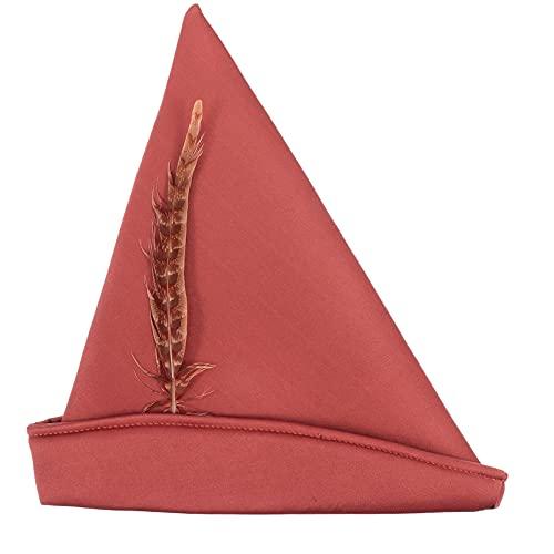 Garneck Pirata Capitn Sombrero Caribeo Pirata Sombrero Indio Jefe Pluma Gorra Halloween Bola Fiesta Disfraz Sombrero Cosplay Tocado (Marrn)