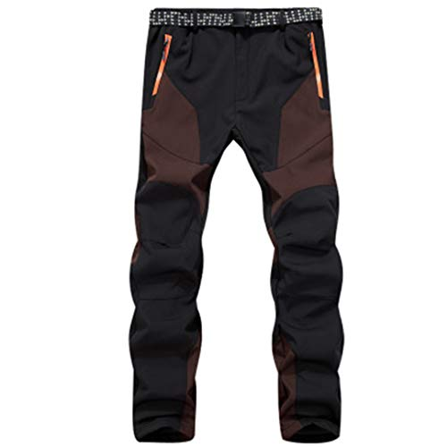 Drying Den Pantalon de Sport Thermique pour Homme en Plein air pour Homme, imperméable, Coupe-Vent, Pantalon de randonnée, Pantalon de Ski, Pantalon de Ski Coffee Asian Size M