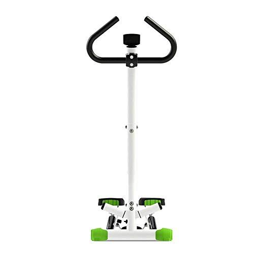 Máquina elíptica Cross Trainer Stepper Mini Fitness Máquina de escalada hidráulica delgada Equipo de ejercicio con apoyabrazos y pantalla LCD para instalación en interiores Mini Stepper verde gratis