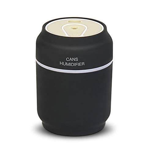 3 in 1 Aromatherapie Diffuser Ultrasoon Kan Luchtbevochtiger Luchtreiniger LED-nachtlampje USB-ventilator Kantoorluchtverfrisser,Black
