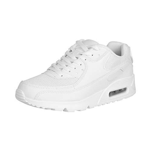 Elara Damen Herren Sneaker Unisex Sport Laufschuhe Turnschuhe Chunkyrayan 0590 White-39