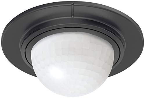 Steinel 32852 Einbau-Bewegungsmelder IS 360-1 schwarz, 1000 W Schaltleistung, 360° Sensor, max. 4 m Reichweite, LED geeignet