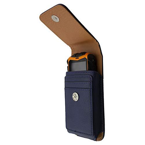 caseroxx Handy Tasche Outdoor Tasche für AEG M550, mit drehbarem Gürtelclip in blau