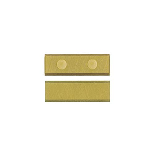 Leman 800.301.01TIN 1 plaquette réversible titane 30x10x1,5/4 coupes/mèches d.14 à 22, Noir