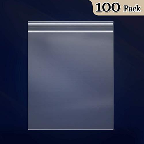 60 x 40 mm Clear Poly Plastique Grip Seal Sac réutilisable zip lock bags