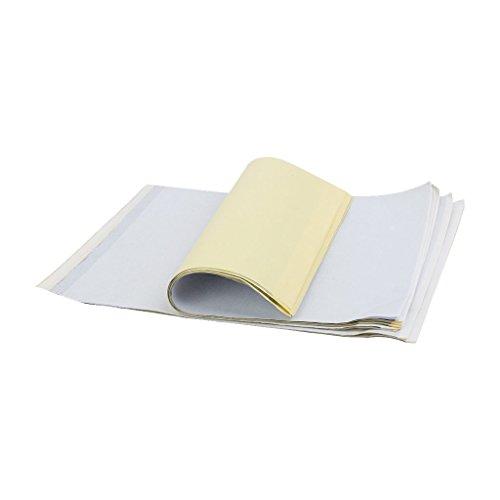 Ndier 10 Stück des Tattoo-Transferpapiers des Thermodruckers Thermodruckerpapier, Tattoo-Form, Tattoo-Form, Papiertransferpapier, Cancelleria und Büroprodukte.