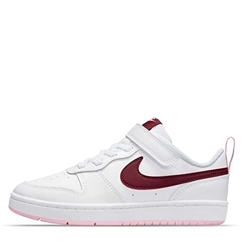 Nike Court Borough Low 2, Zapatillas de bsquetbol, Blanco Burdeos, 28.5 EU