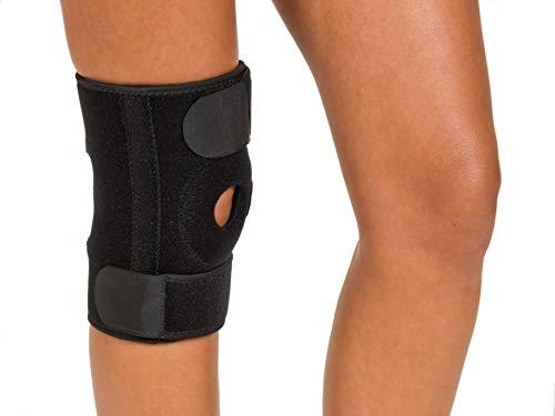 Ortesis de rodilla | Ortesis de rodilla | Vendaje de rodilla | Lesiones y dolor de rodilla | Deporte | Trabajo | unisex | Tamaño universal | negro | rodilla derecha e izquierda