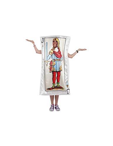 DISBACANAL Disfraz de Carta Sota de Espadas - -, XL